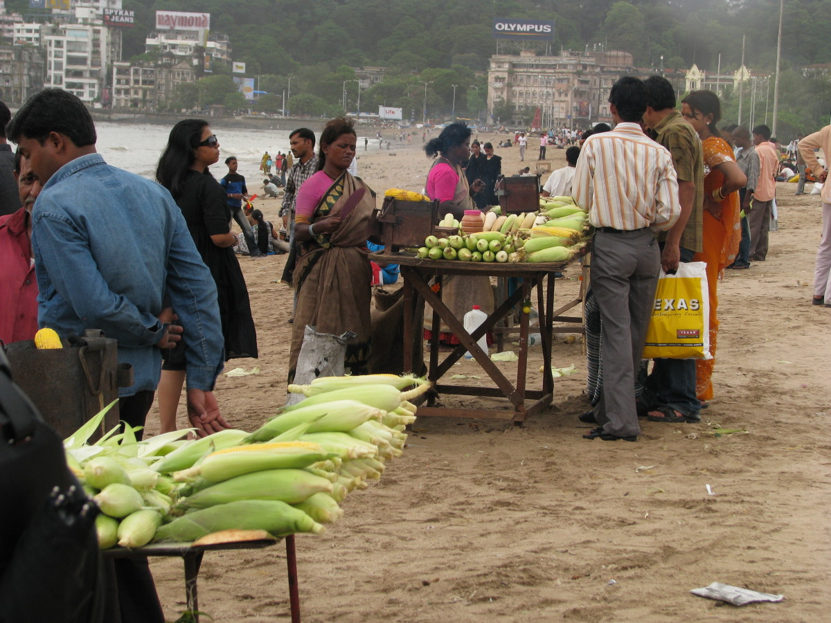 some of the vendors on the beach
