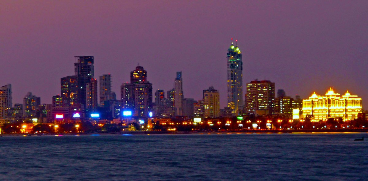 Mumbai skyline by night
