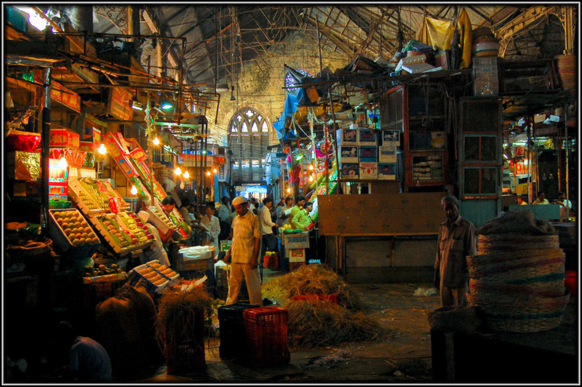 a view of the fruit market inside