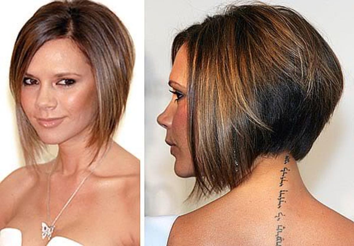 Victoria Beckham A-Line bob haircut.
