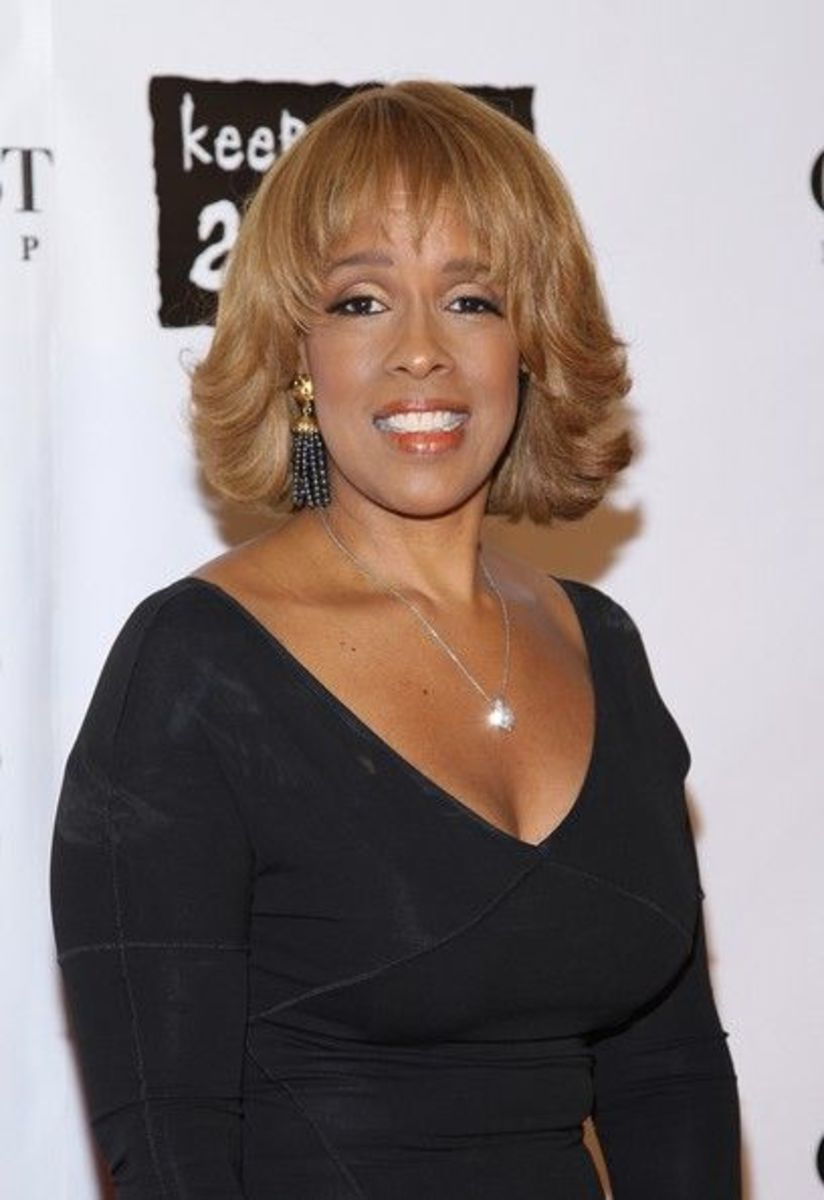 Gayle King hairstyle.