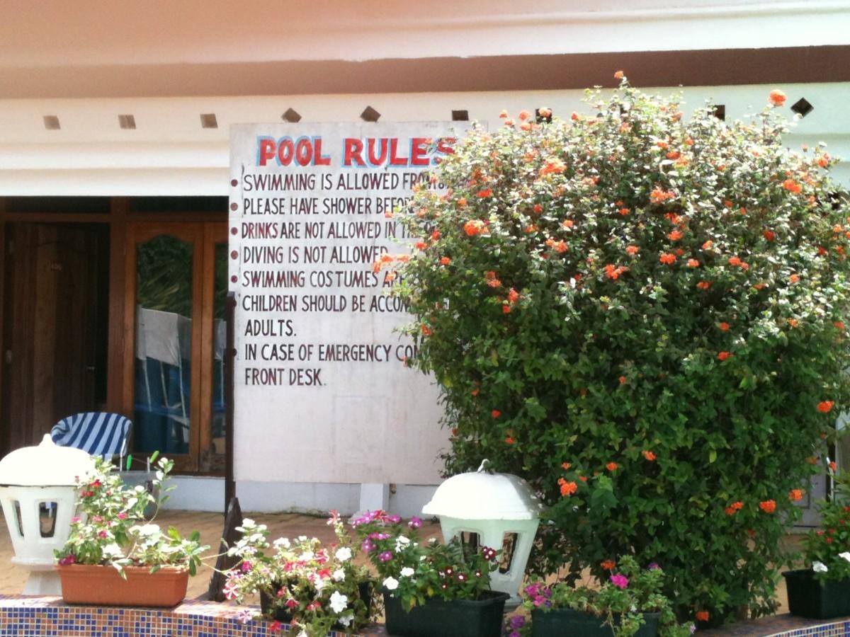Estrela do Mar Beach Resort Goa Pool Rules
