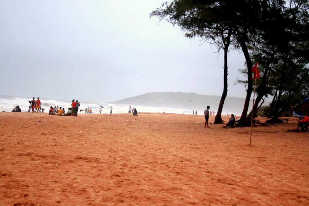 A view of Calangute Beach from the Estrela Do Mar Beach Resort.