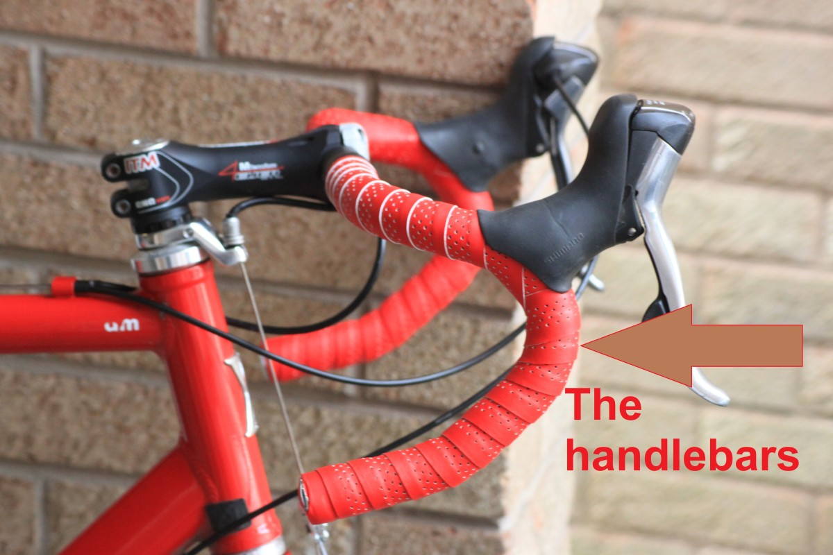 You hands connect to the handlebars