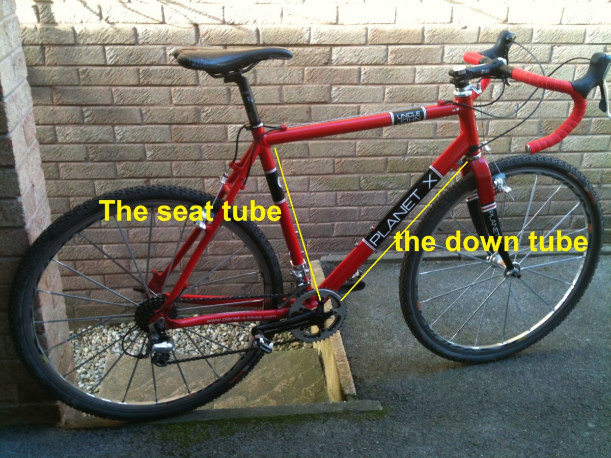 The seat tube seat tube helps to house the seatpost and drops to the bottom bracket area to join with the down tube. Bike featured is a Planet X Uncle John Cyclo Cross Frameset with Mavic Ksyrium Wheelse