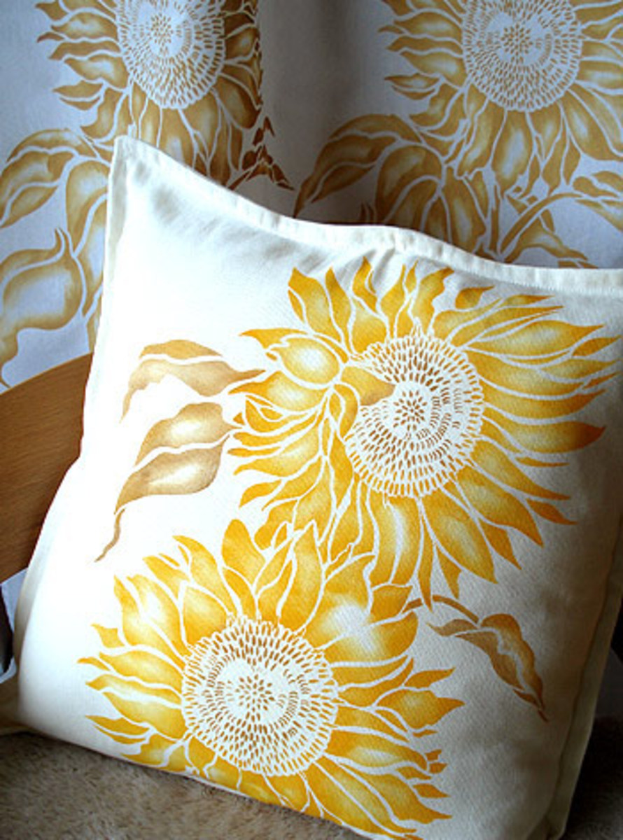 This pillow was created using the stencil pictured above, just gorgeous!