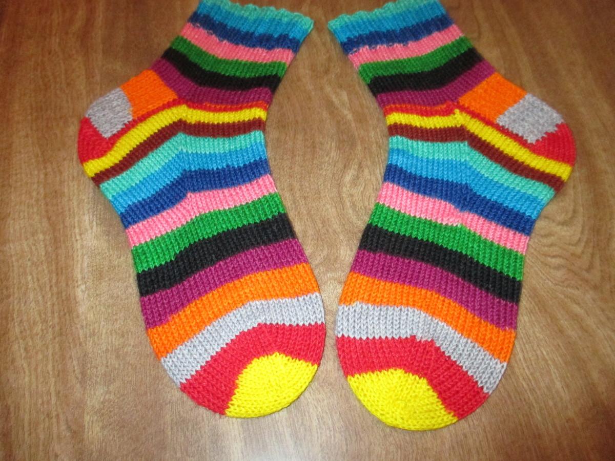 Knit cuff down in Mind The Gap self striping yarn