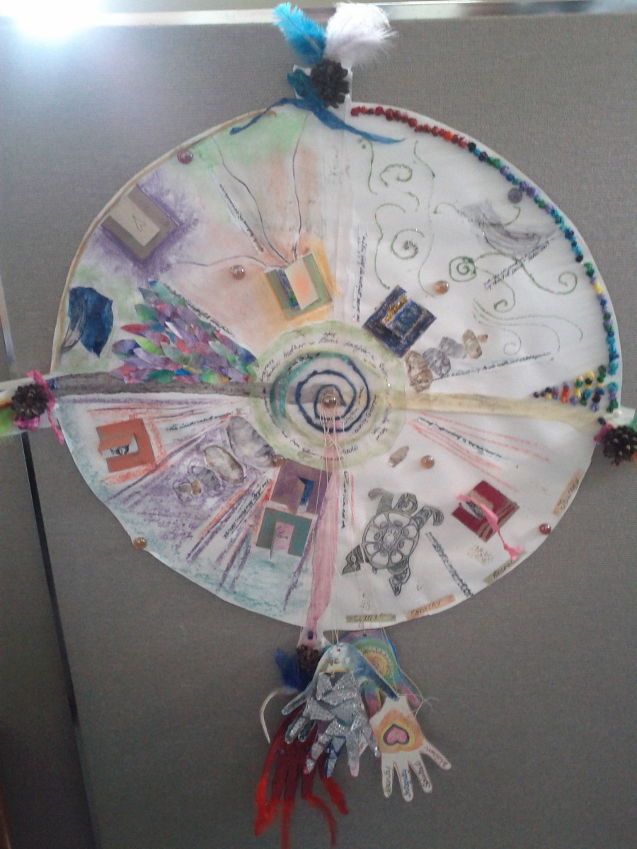 Group Mandala by art therapy students at BC School of Art Therapy