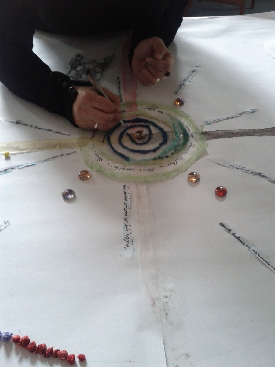 Creating a group mandala