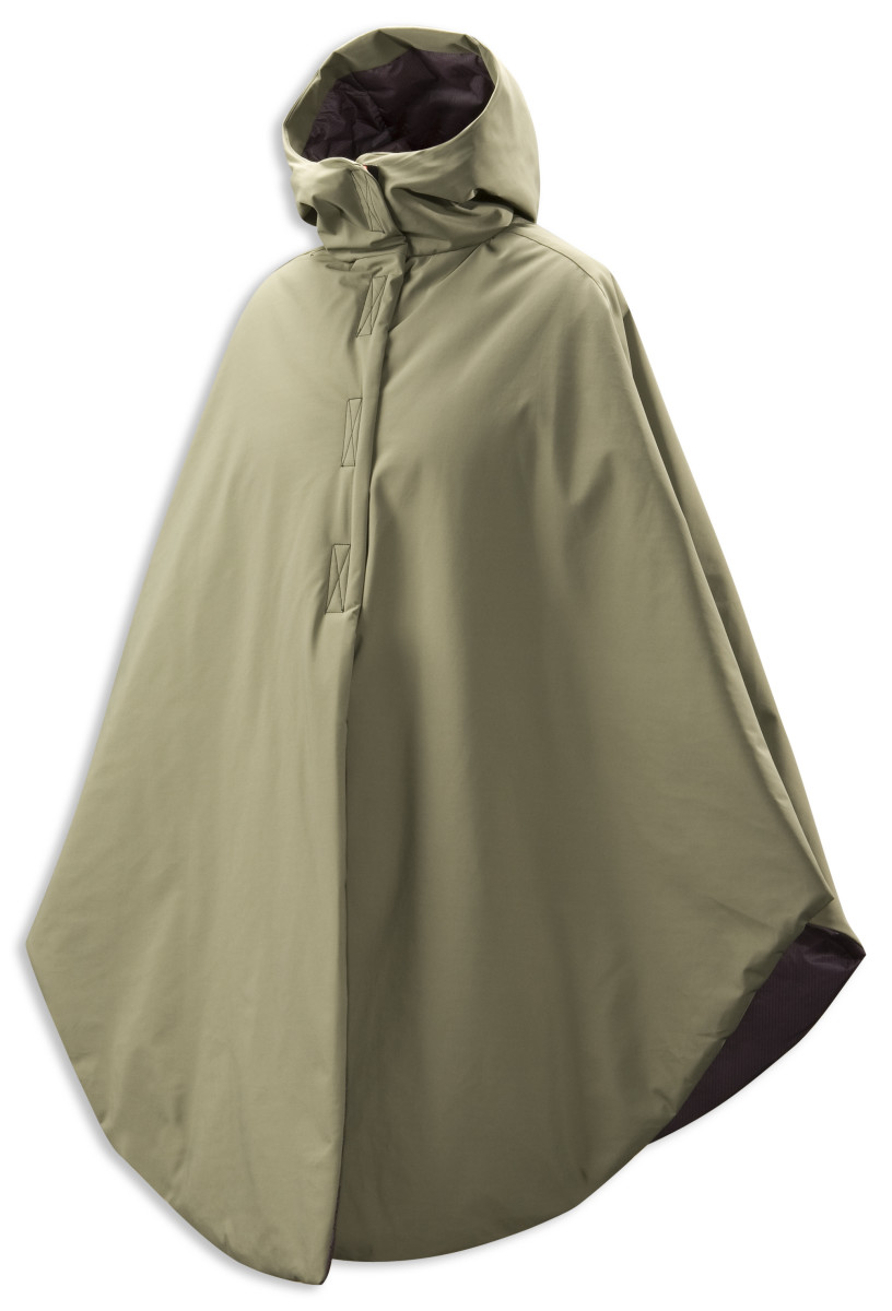 Someone designed this thermally insulated waterproof cape to give to the homeless. I'm sure they use it during a cold snap, even over a winter coat.