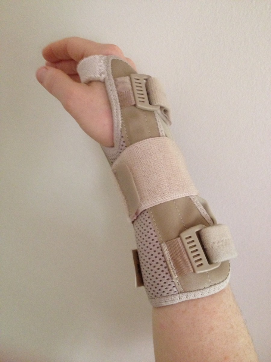 This wrist brace helps to maintain a safe wrist position.