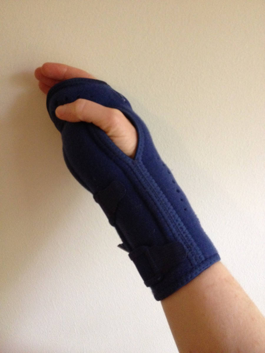 A nightime wrist brace is soothing and allows for a good night's sleep.