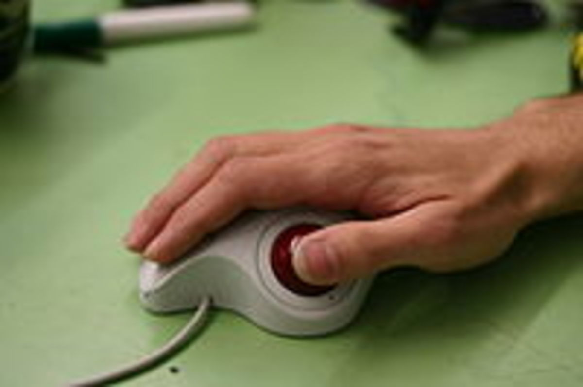A trackball mouse may eliminate the causes of carpal tunnel syndrome.