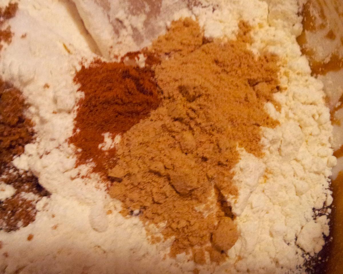 Flour, Baking Soda, Baking Powder, Spices