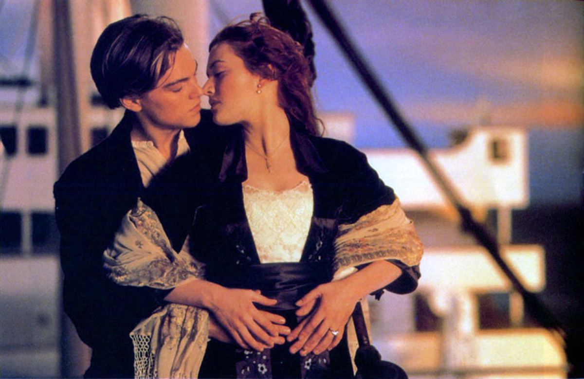 Kate Winslet as Rose & Leonardo DiCaprio as Jack  from Titanic