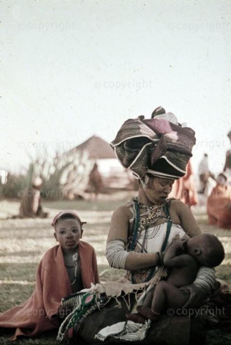 Xhosa Women Breastfeeding her infant...