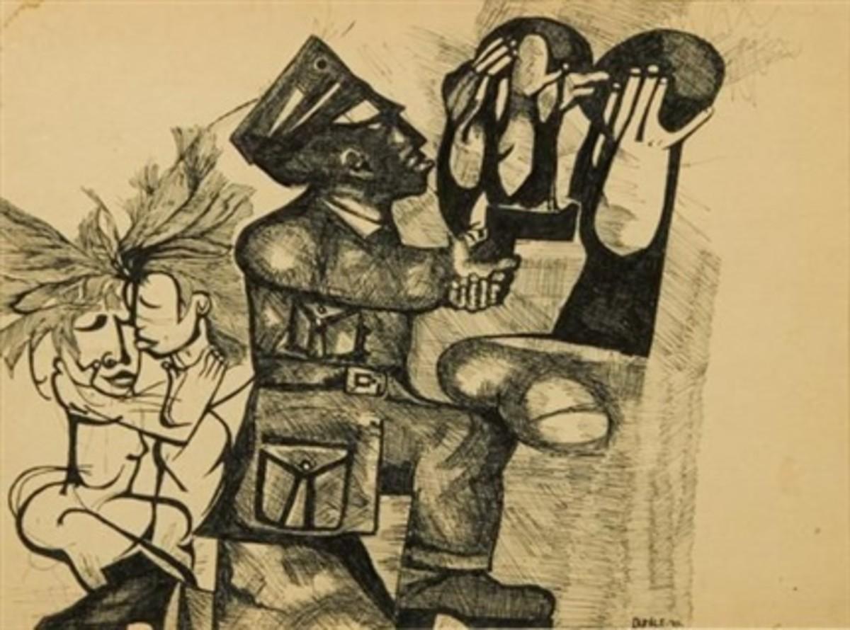 """Dumile feni's Art: """"Under Arrest"""""""