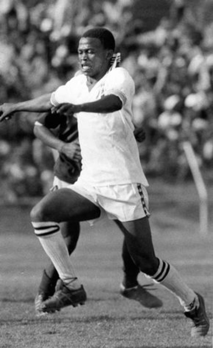 MNINI is irreplaceable. He made the ball speak his own language and we don't have such players today. His darting moves and dribbling skills would force fans from other clubs to support Swallows. He was effective on the left and right wings. He was a