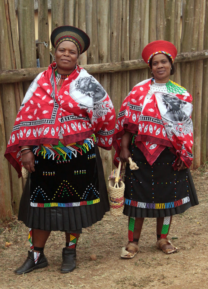 Zulu Women Clad In Their Best Traditional and customary wear..