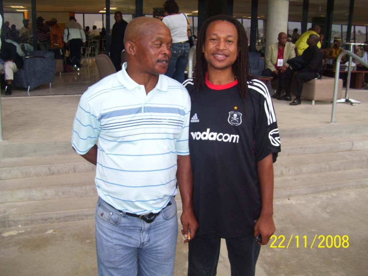 "Former Swallows midfielder, Joel ""Ace"" Mnini(Left) and John ""The Great"" Morapedi(Right)"