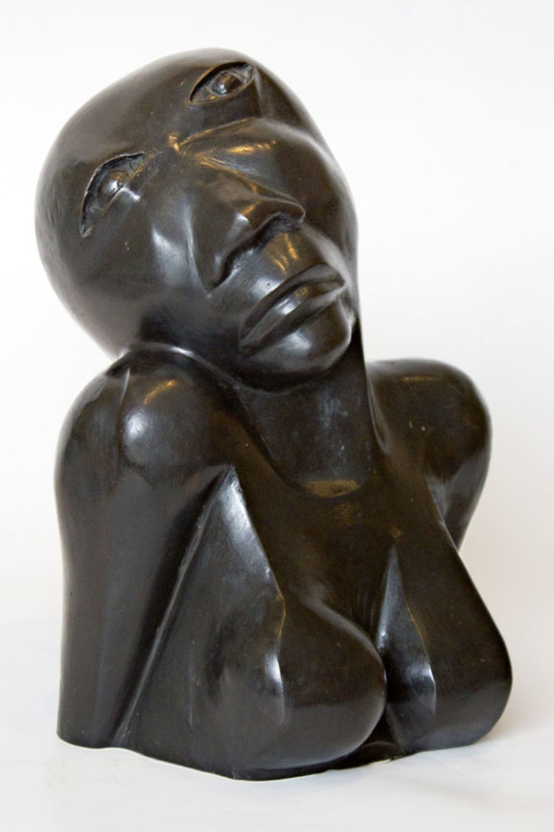 """Anguished Woman"" by Dumile Feni"