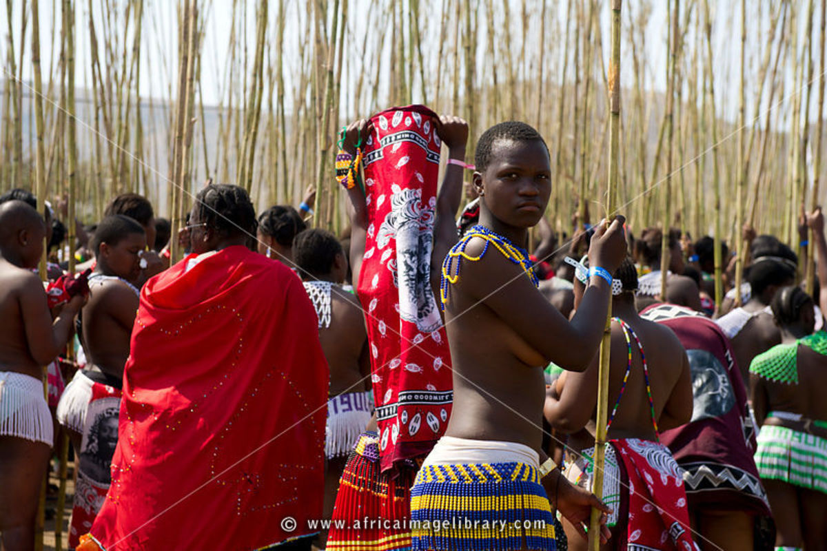 Swazis at the Reed Festivities