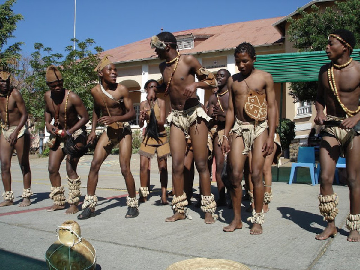 Tswana Dancers From windhoek, Namibia