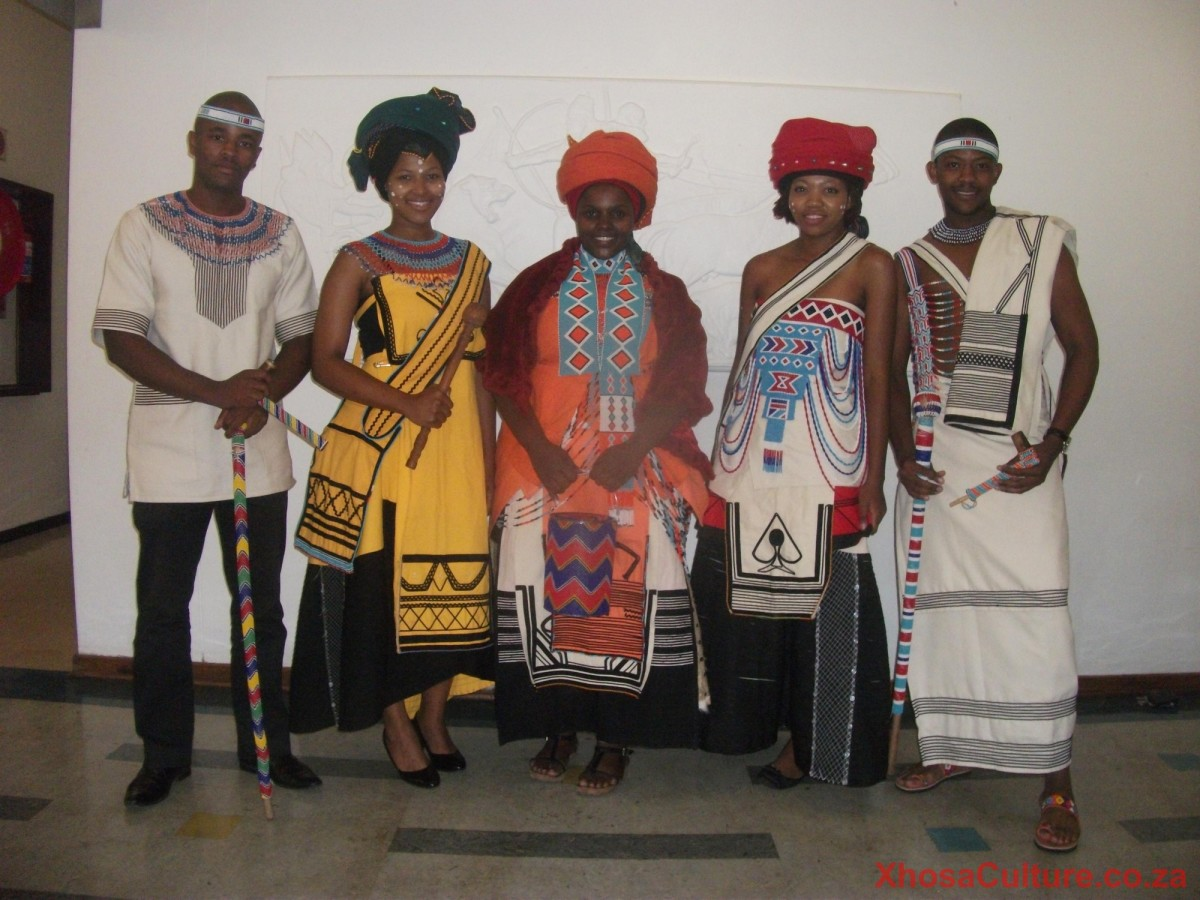 Xhosa Men and women in their traditional Xhosa Dress