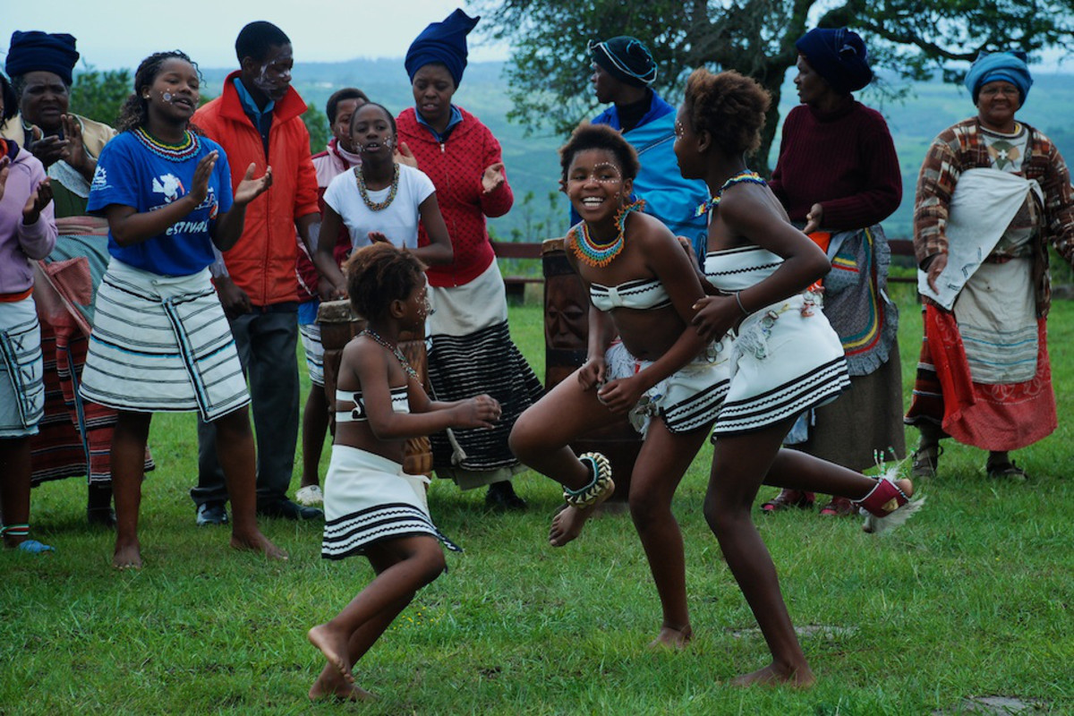 Xhosa children dancing with and for Elderly people