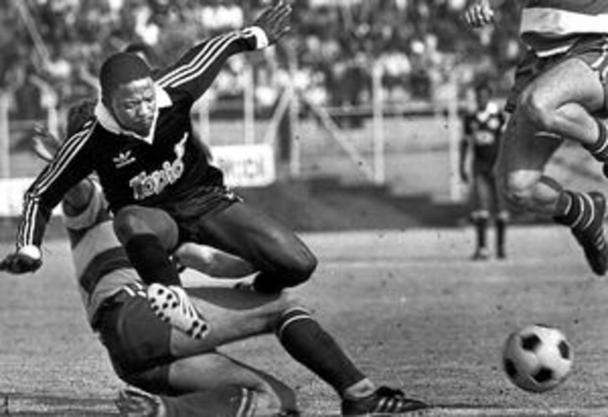 """Kagiso """"Zero My Hero"""" Hurdles over the opposition in pursuit and control of the ball"""