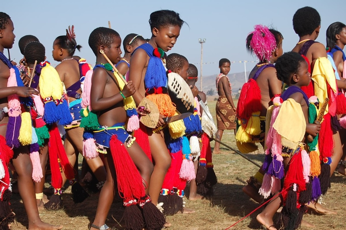 Swazi children in the Reed mix