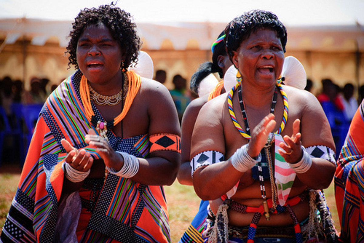 Venda Women in a traditional gathering