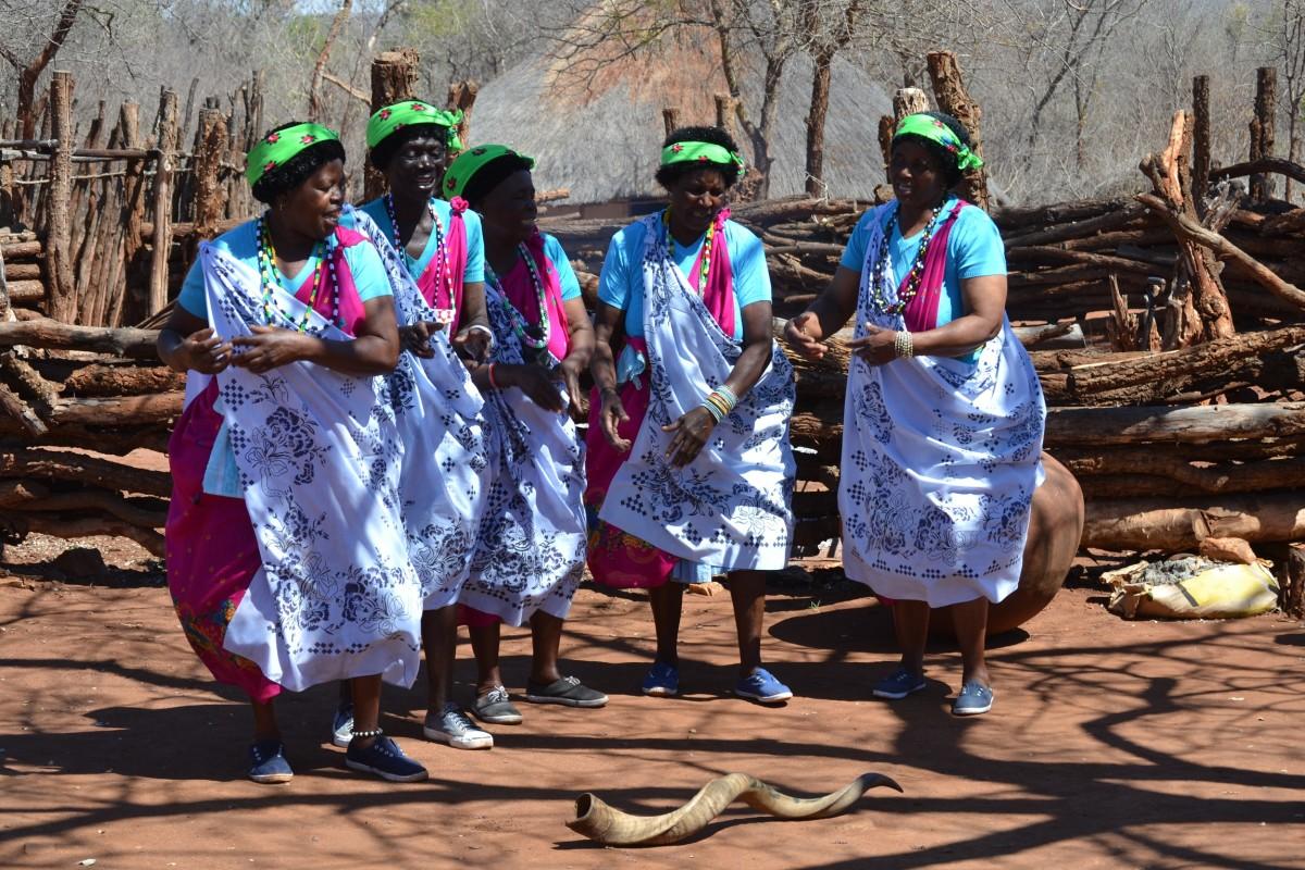 Shangaan/Tsonga women in traditional dress