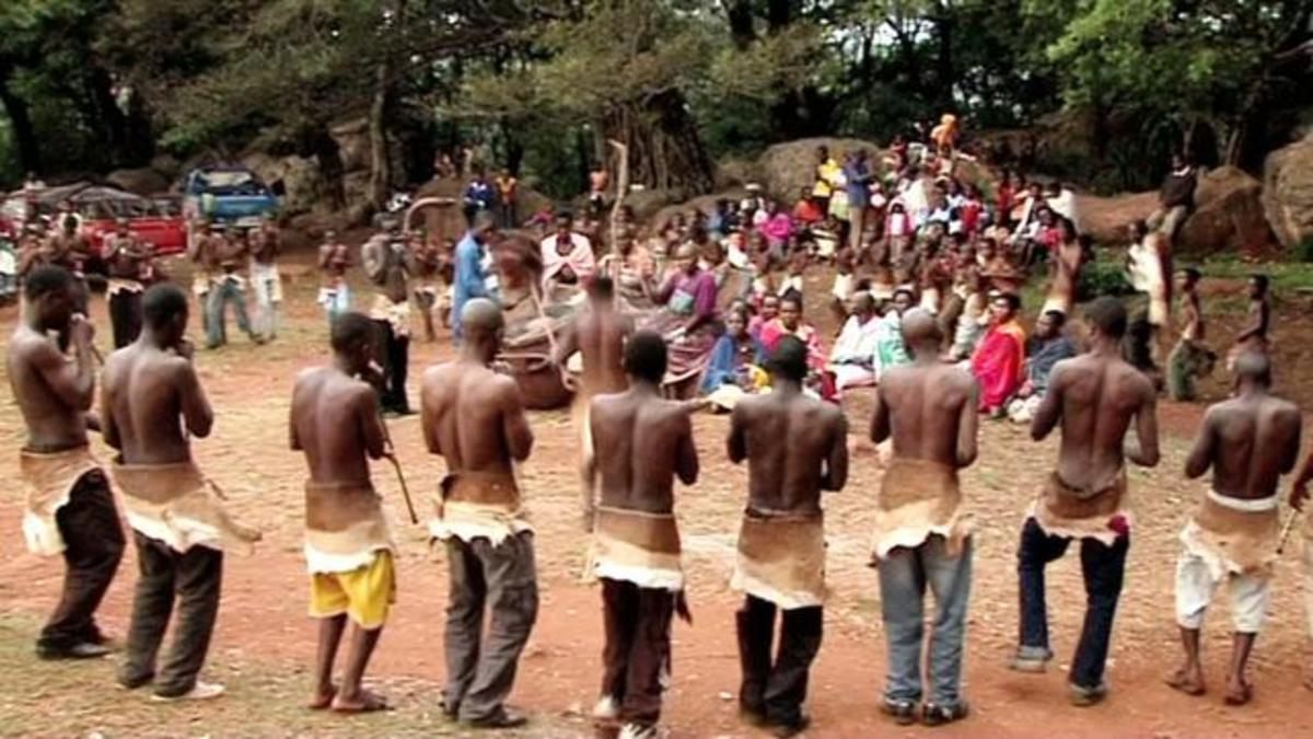 The tshikona is also traditionally a male dance in which each player has a pipe made out of a special indigenous type of bamboo growing only in few places around Sibasa and Thohoyandou (which no longer exists). Each player has one note to play, which