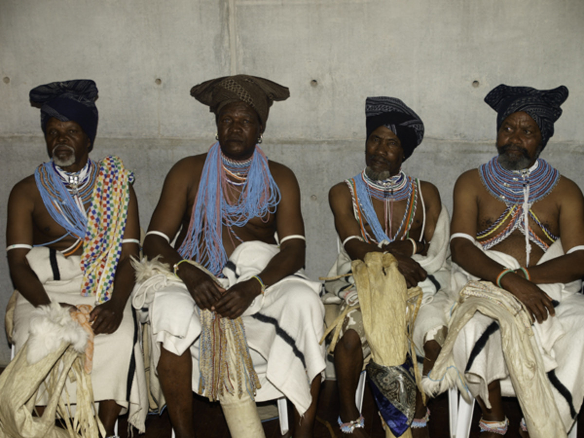Xhosa chiefs waiting to be served traditional beer and meat A chief occupies the position because he is the firstborn son of the main wife of the previous chief. The main wife is the one who was chosen for the chief by the tribe. In the tribal areas