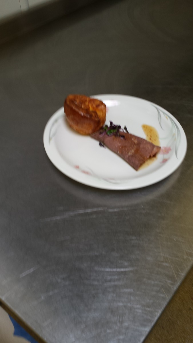 Roast Topside of beef with Gluten Free Yorkshire Pudding