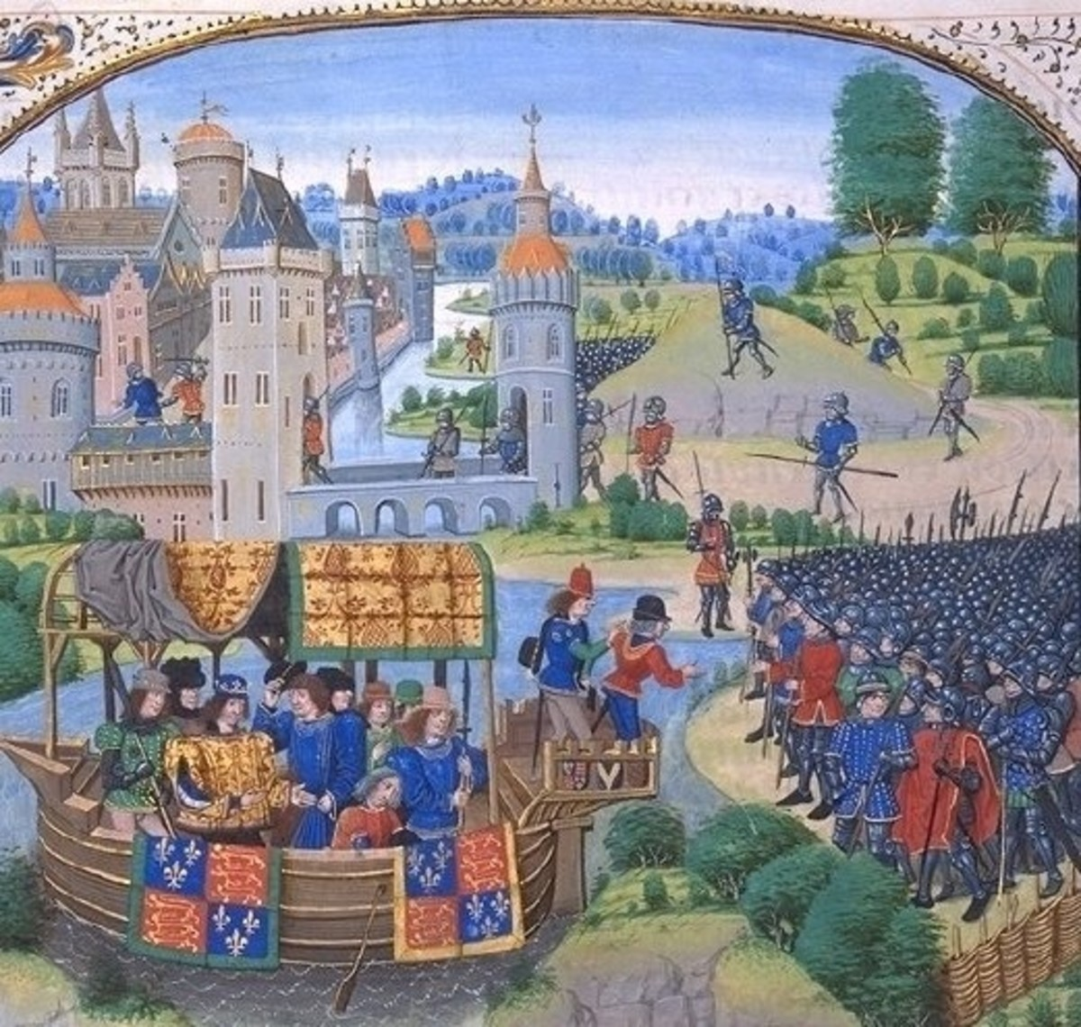 The picture above shows King Richard II meeting the rebels during the Peasants' Revolt.