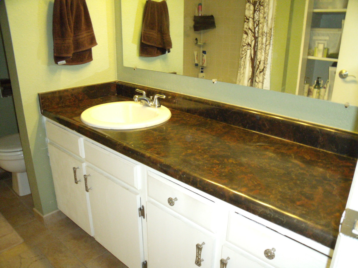 How to replace a bathroom countertop with granite tile for How to replace bathroom countertop and sink