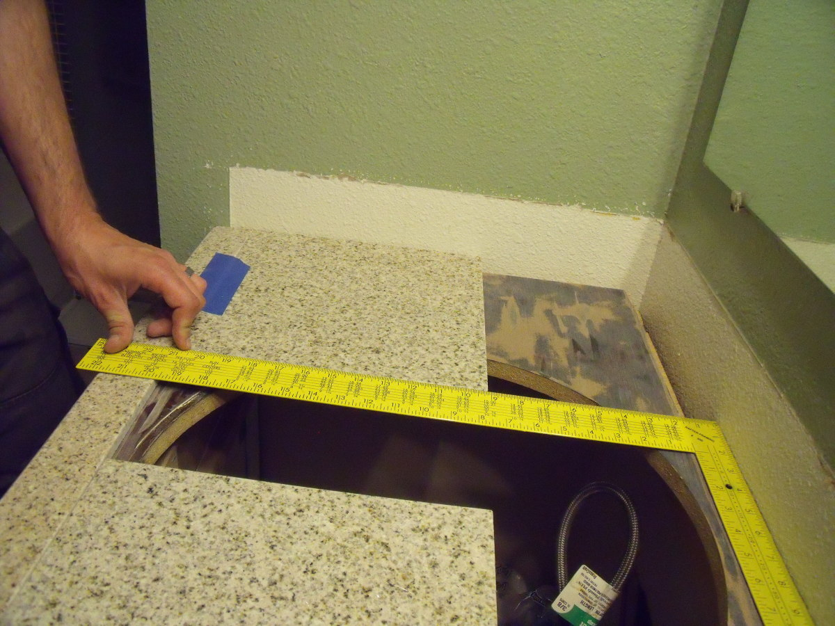 Dry fit tile before making cuts.