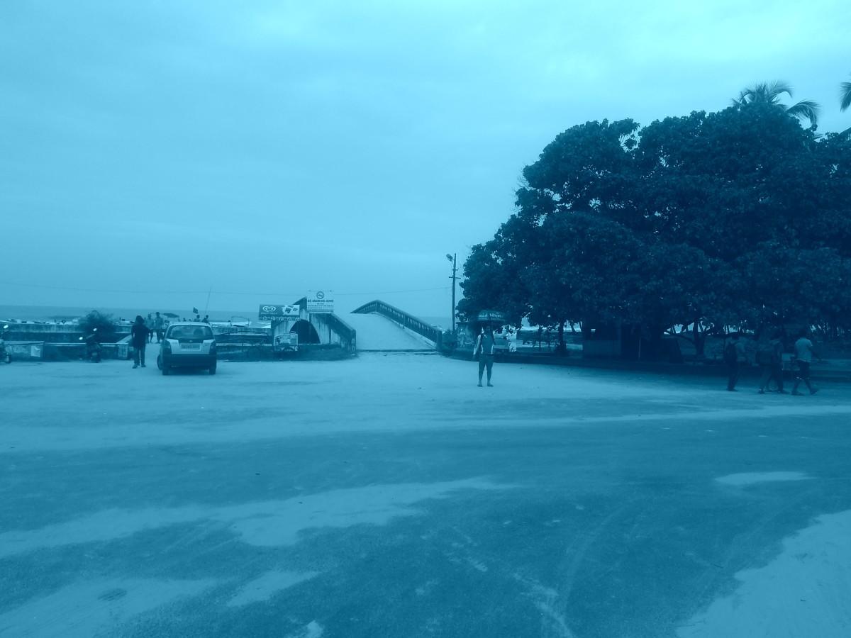 The vast stretch of white sand.....