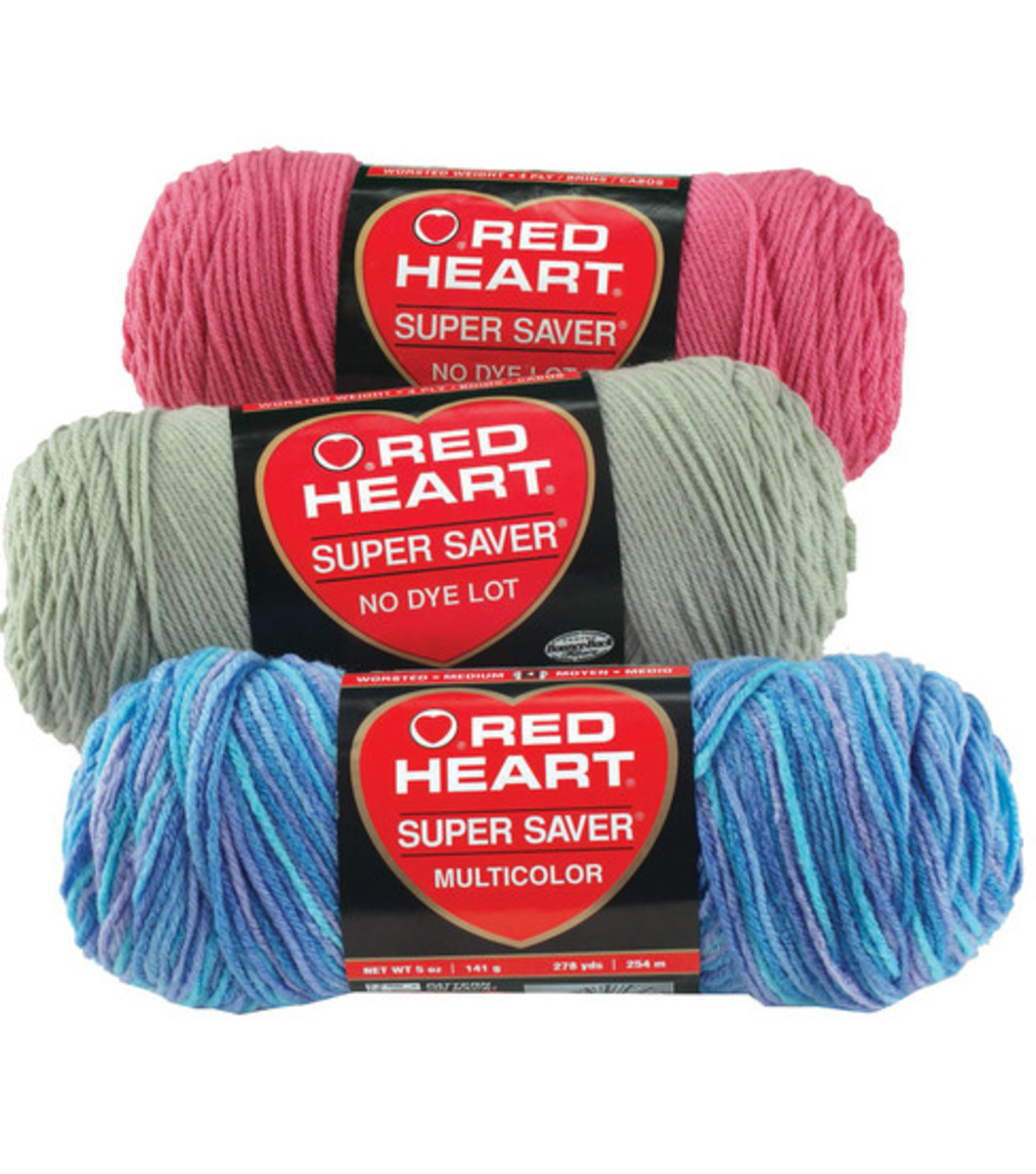 My favorite and least expensive yarn - the yarn I learned on!