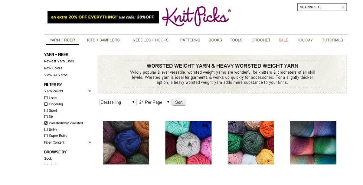 Website for Knit Picks