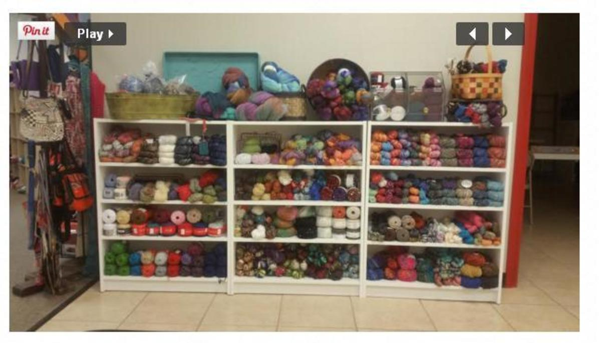 Go visit any local yarn or needlework shops to find a wide variety of knitting yarn or supplies!