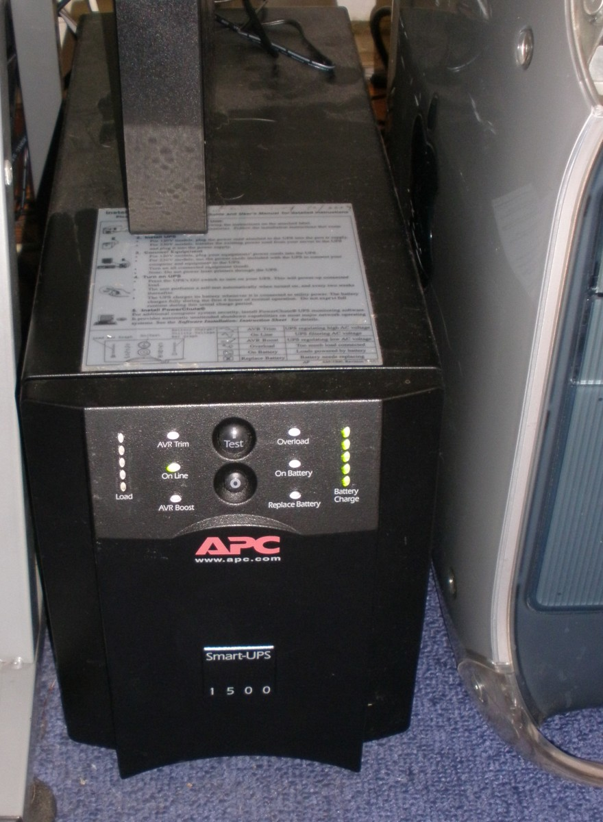 A UPS can power more than just a computer during an outage.  You can use one to power your modem, home phone, or even fish aquarium equipment.  Shown here is my APC Smart-UPS 1500 that powers my computer and monitor during an outage.