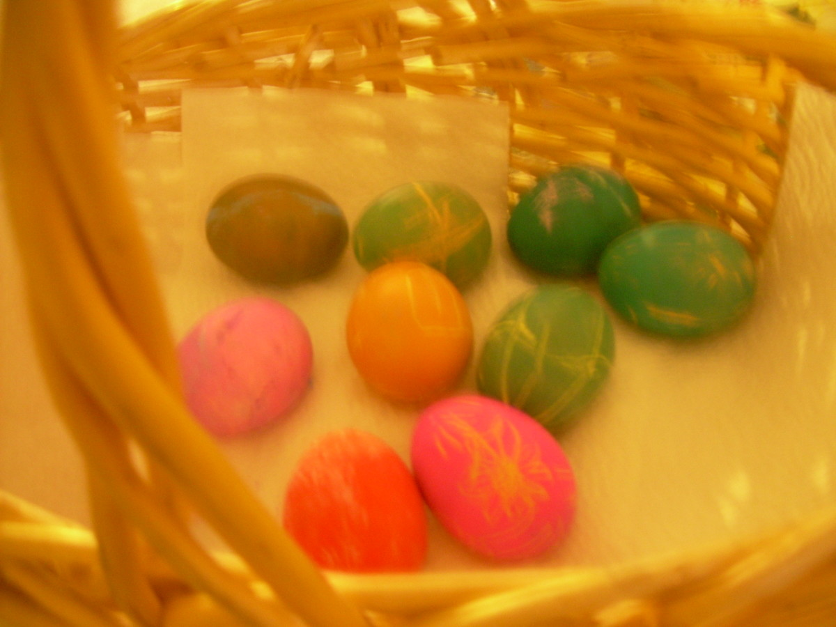 Dying eggs for rites of spring is an ancient pagan custom. Eggs are a symbol of fertility.