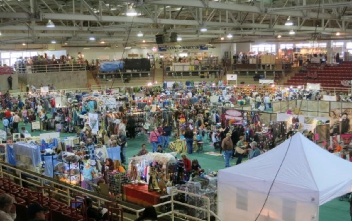The Southeaster Animal Fiber Fair (SAFF) in Asheville, NC.