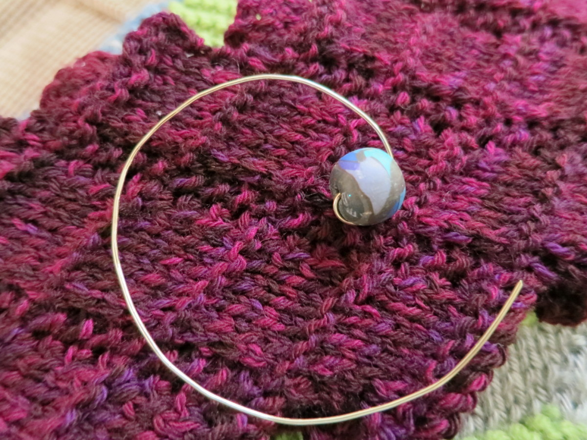 Simple Wire and Bead Shawl Pin Tutorial