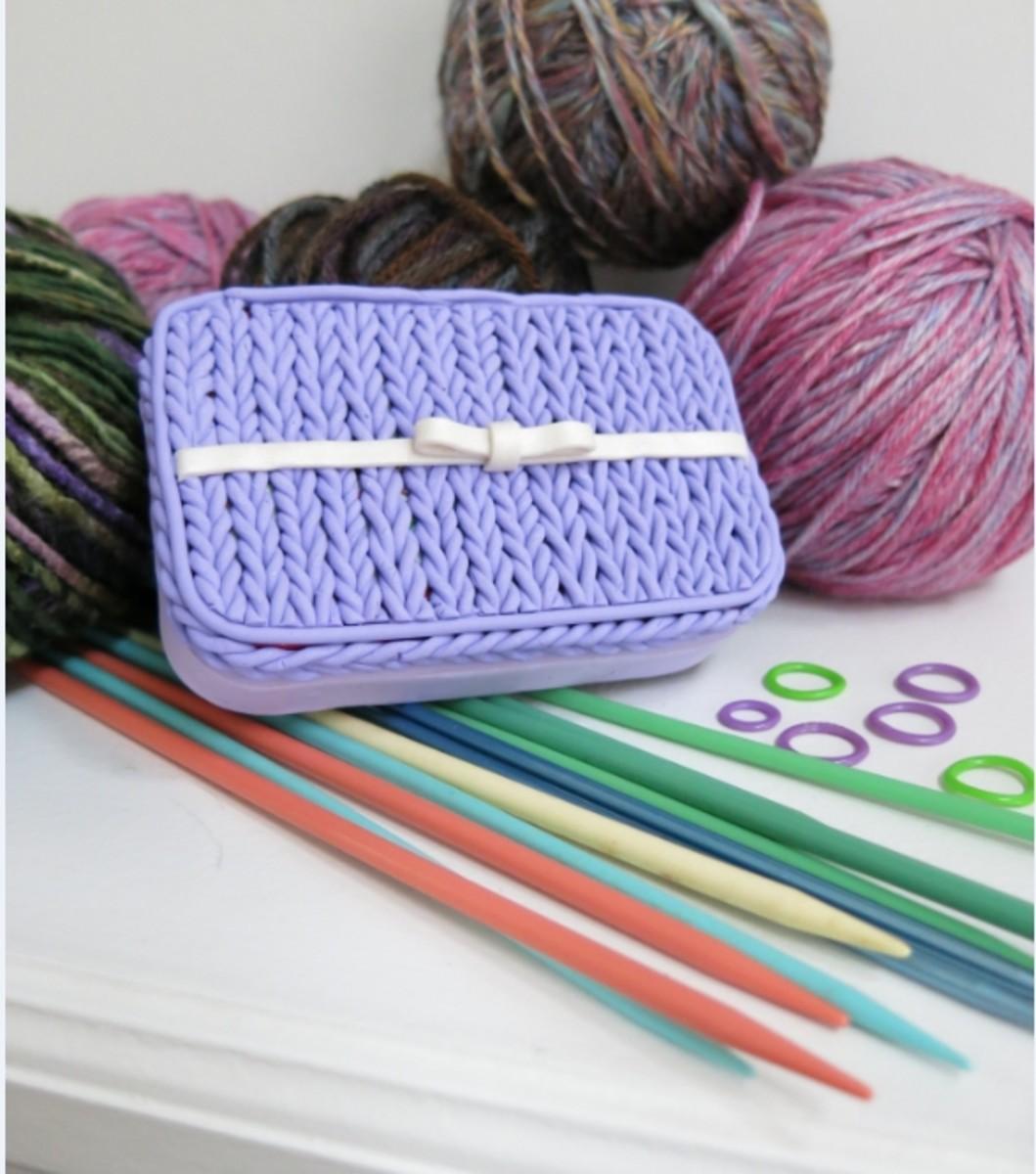 Polymer Clay Knit Stitch Box