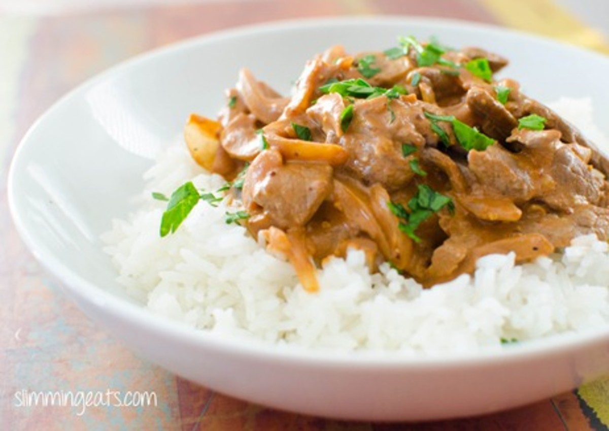 Syn Free Slimming World Beef Stroganoff