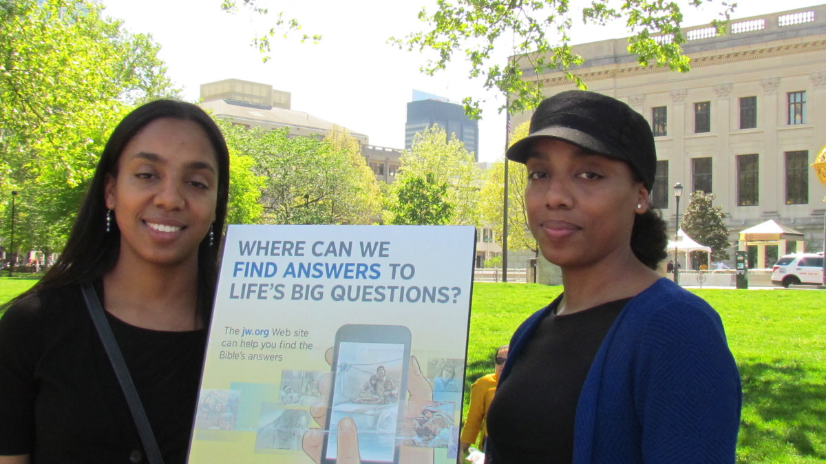 Jehovah's Witnesses diligently volunteer to spread the good news throughout the world about a positive hope for the future based on promises Jesus made while on earth.